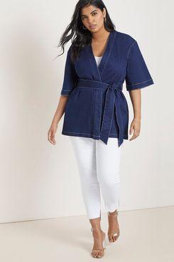 Eloquii Kimono Chambray Jacket