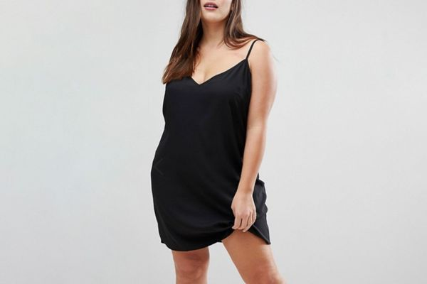 ASOS DESIGN Curve Mini Cami Slip Dress