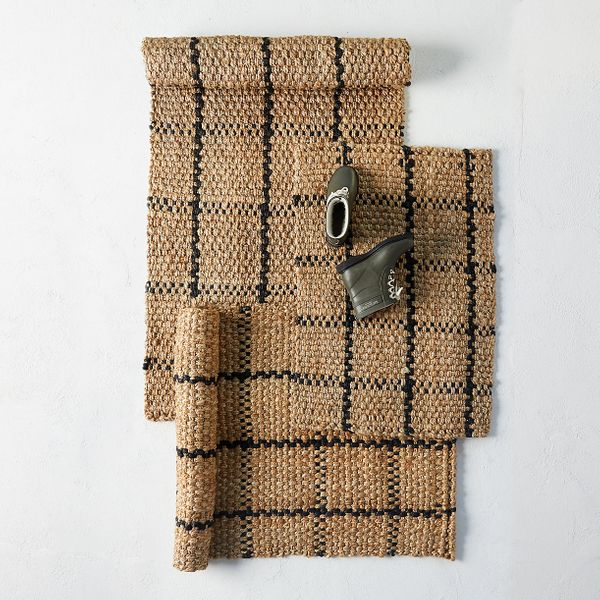 Terrain Windowpane Jute Doormat