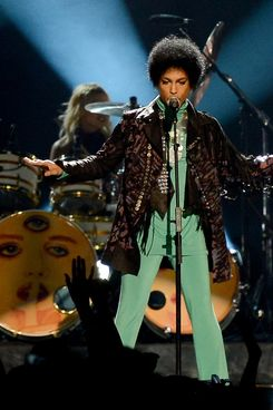 Musician Prince performs onstage during the 2013 Billboard Music Awards at the MGM Grand Garden Arena on May 19, 2013 in Las Vegas, Nevada.