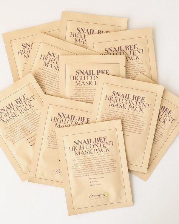 Benton Snail Bee High Content Sheet Mask, 10-Pack