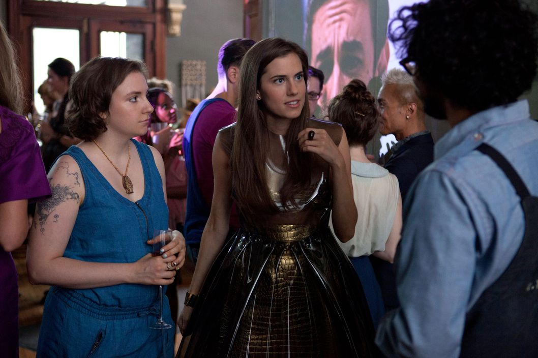 Marnie's Gold Plastic Dress on Girls, Explained -- The Cut