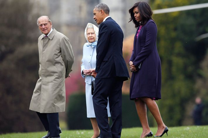 Michelle Obama at Windsor Castle.