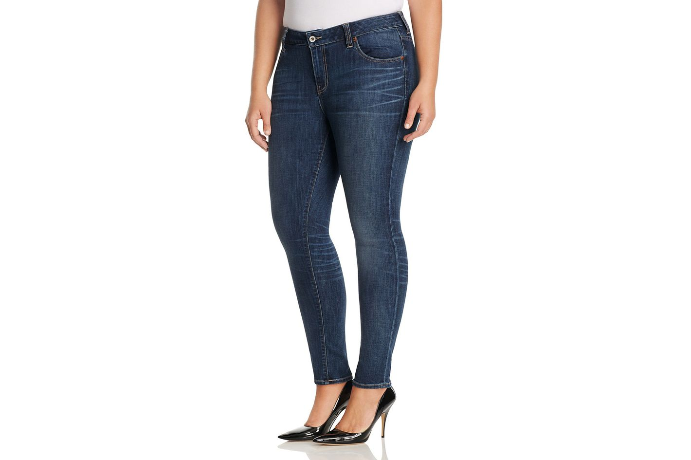 Lucky Brand Plus Ginger Cropped Skinny Jeans