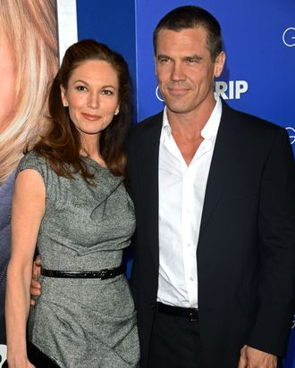 Actress Diane Lane and Actor Josh Brolin attends the premiere of Paramount Pictures'
