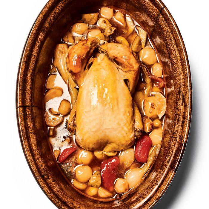 Le Coq Rico's chicken baeckeoffe.