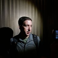 In this June 10, 2013, file photo The Guardian reporter Glenn Greenwald speaks to reporters at his hotel in Hong Kong. Greenwald first reported former NSA contractor Edward Snowden's disclosure of NSA's government surveillance programs. On Sunday's