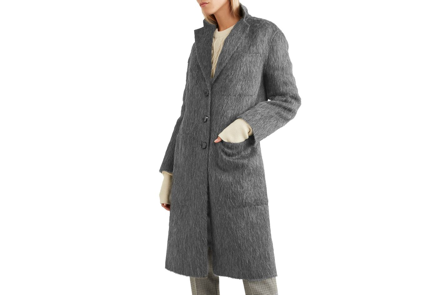 Joseph Brushed Wool Coat