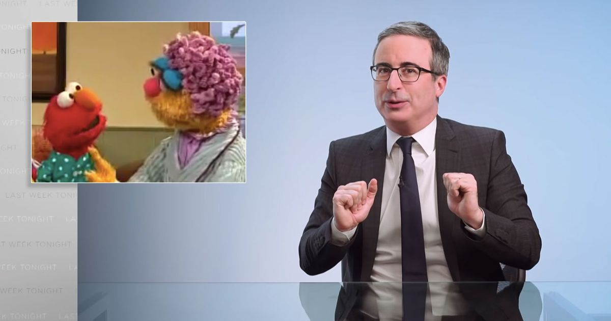 John Oliver Wants Elmo's Mom to Drop the Hair-Care Routine - Vulture