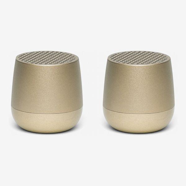 Lexon Mino Plus 2-Pack Bluetooth Speakers (Gold)