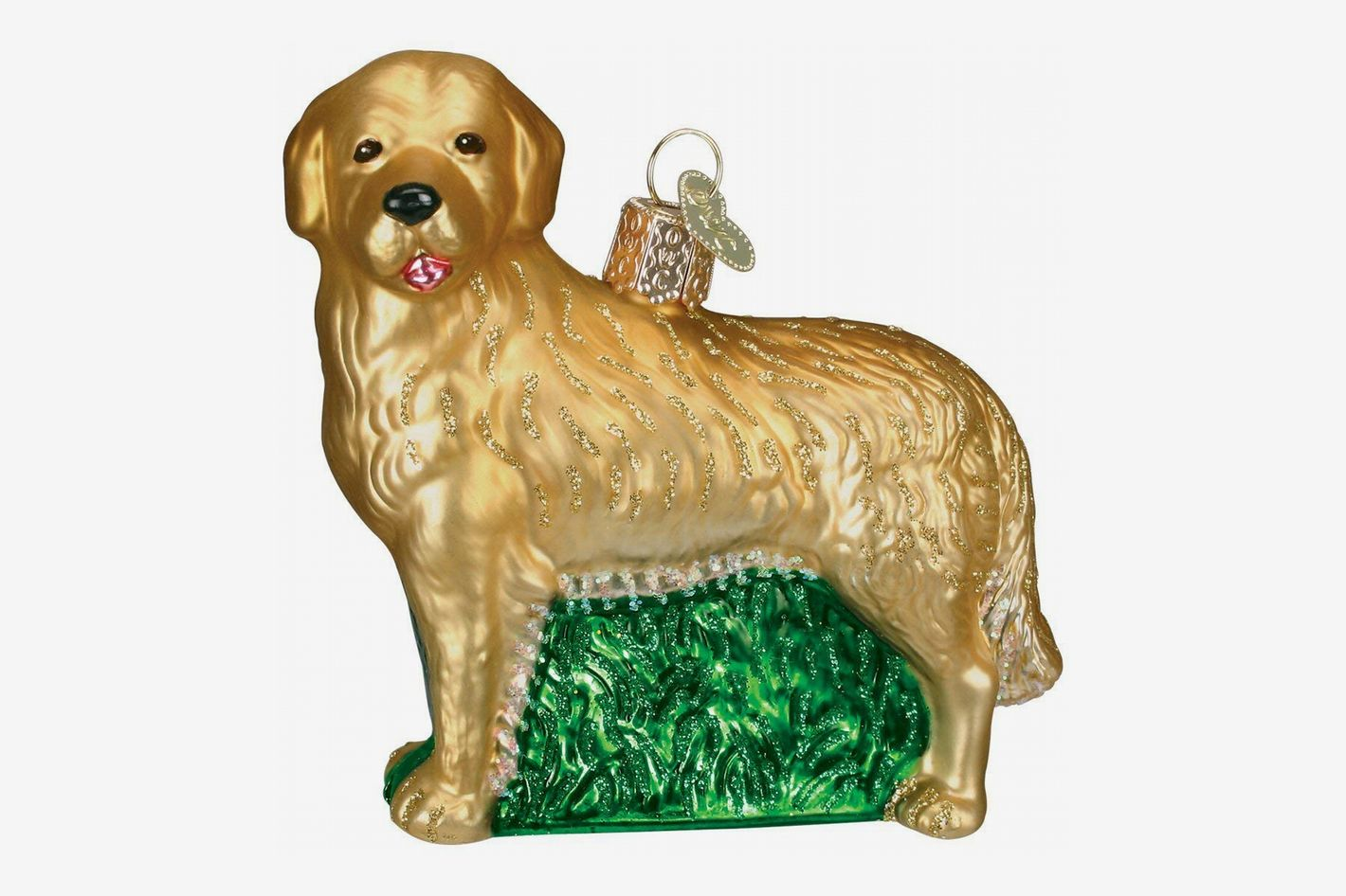 Old World Christmas Ornaments: Golden Retriever Glass Blown Ornament