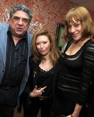 NEW YORK - FEBRUARY 01: (L-R) Actors Vincent Pastore, Natasha Lyonne and Chloe Sevigny attend the North American Premiere Of