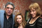 """NEW YORK - FEBRUARY 01:  (L-R) Actors Vincent Pastore, Natasha Lyonne and Chloe Sevigny attend the North American Premiere Of """"Lilyhammer"""", a Netflix Original Series debuting on Netflix in the US, Canada and Latin America on February 6, 2012. The premiere was held at Crosby Street Hotel on February 1, 2012 in New York City.  (Photo by Jason Kempin/Getty Images for ID-PR)"""
