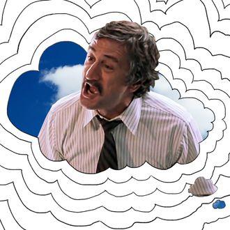 Robert De Niro yelling.