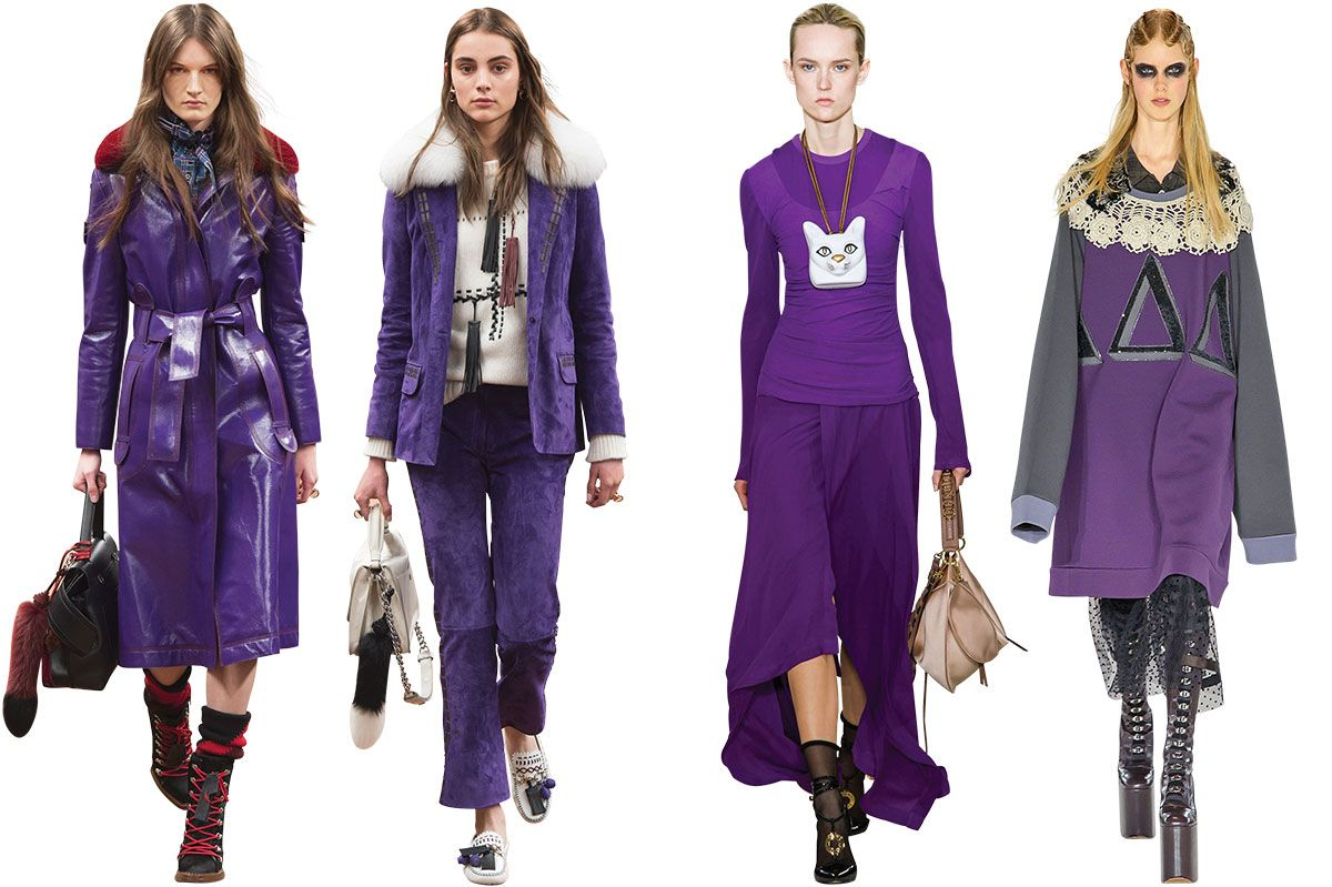 Fashion style Fashion Trendsfall trend purple for lady