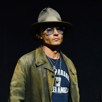 LAS VEGAS, NV - APRIL 17: Actor Johnny Depp appears at a Walt Disney Studios Motion Pictures presentation to promote the upcoming film
