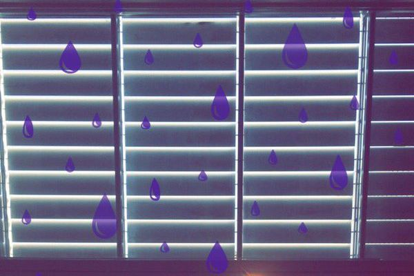 "Snapchat's ""Purple Rain"" filter."