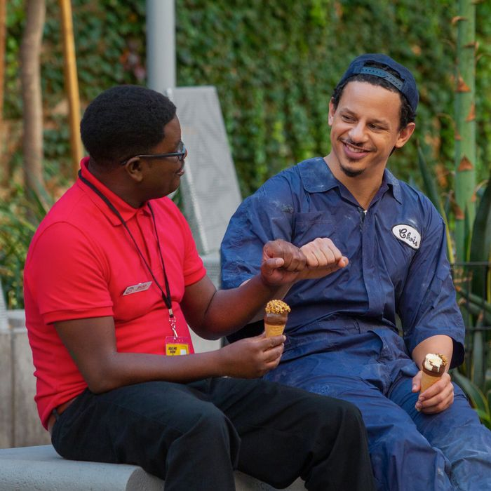 Lil Rel Howery and Eric Andre in Bad Trip.