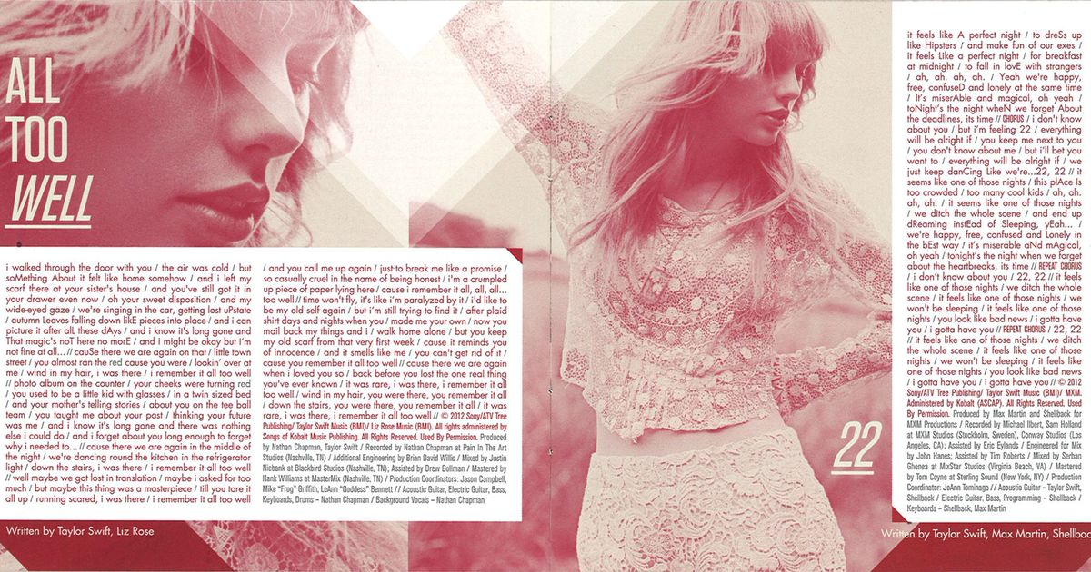 Who Is Each Song On Taylor Swift S New Album About
