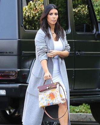 5e1bbc8f0d Kim Kardashian Carried North West s Finger-Painted Birkin