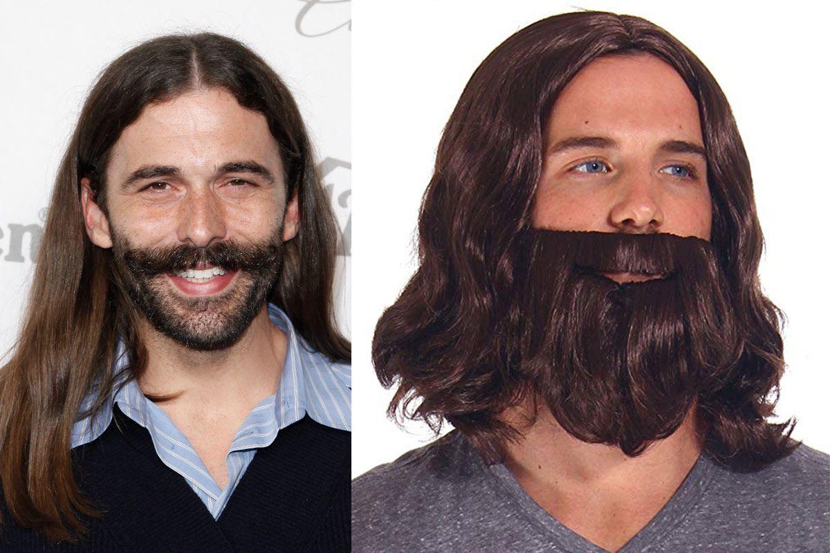 Adult Cosplay Costume Biblical Men's Jesus Wigs and Beard Set