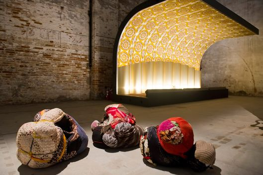 VENICE, ITALY - MAY 06:  The Corderie space at the Arsenale at the 56 Venice Biennale Art on May 6, 2015 in Venice, Italy.  (Photo by Awakening/Getty Images)