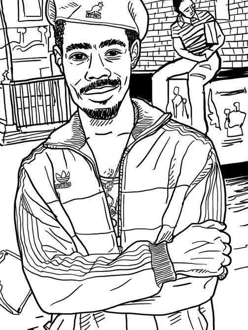 A Coloring Book Celebrating Hip-Hop Style -- The Cut