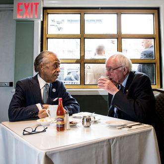 Bernie Sanders Meets With Al Sharpton In New York