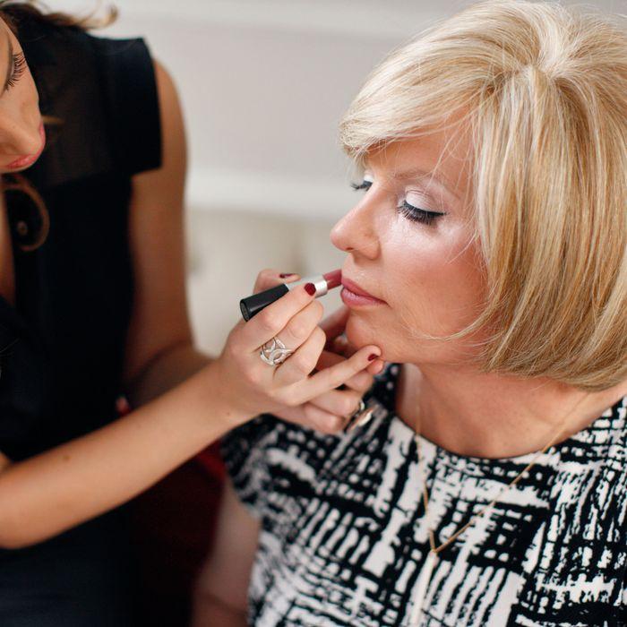 Monica Prata with Robyn, a client.