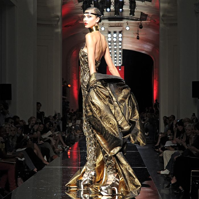 Karlie Kloss at Jean Paul Gaultier's fall 2012 haute couture show.