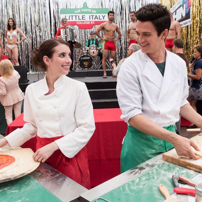 Emma Roberts and Hayden Christensen in Little Italy movie.