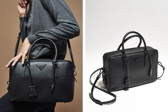92b0eb64e8 See Prada s All-Black Handbag Capsule Collection