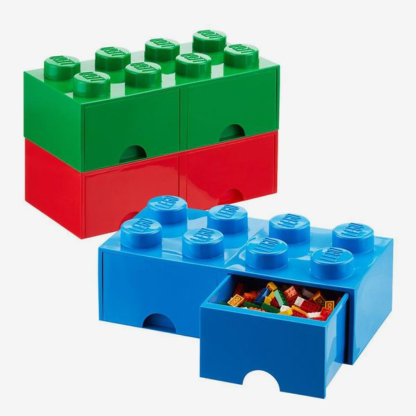 The Container Store Blue X-Large Lego Storage Drawer