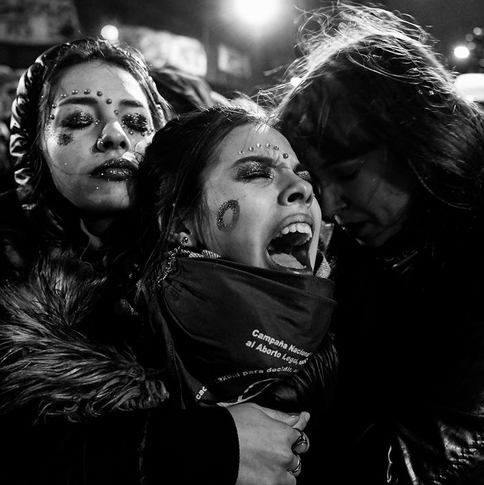 Abortion activists in Argentina.