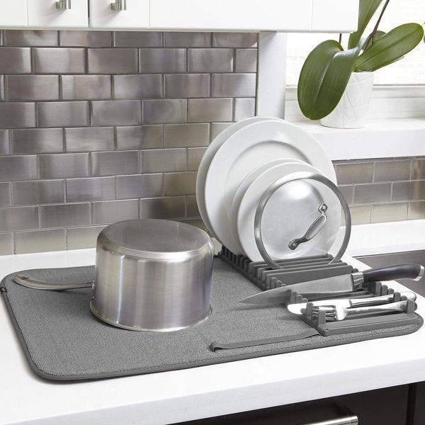 Umbra UDRY Drying Rack and Microfiber Dish Mat