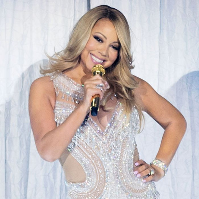 Mariah Carey performing in Paris last week.