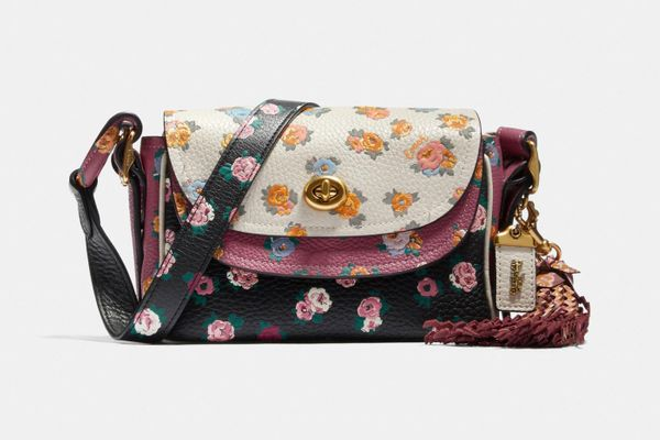 Coach X Tabitha Simmons Crossbody 17 In Colorblock With Meadow Rose Print