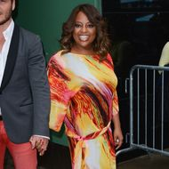 """TV personality Sherri Shepherd leaves the """"Good Morning America"""" taping at the ABC Times Square Studios on May 15, 2012 in New York City."""
