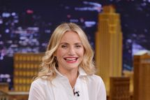 "Actress Cameron Diaz visits ""The Tonight Show Starring Jimmy Fallon"" at Rockefeller Center on February 28, 2014 in New York City.  (Photo by Mike Coppola/NBC/Getty Images for The Tonight Show Starring Jimmy Fallon)"