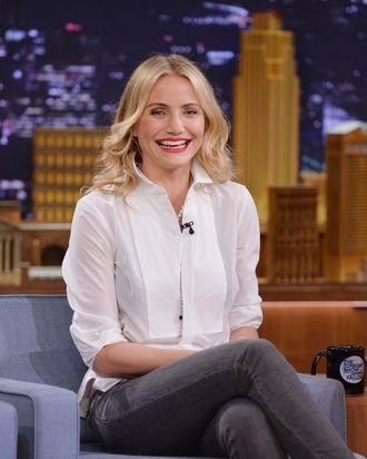 Actress Cameron Diaz visits