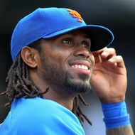 NEW YORK, NY - AUGUST 20:  (NEW YORK DAILIES OUT)  Jose Reyes #7 of the New York Mets looks on against the Milwaukee Brewers at Citi Field on August 20, 2011 in the Flushing neighborhood of the Queens borough of New York City. The Brewers defeated the Mets 11-9.  (Photo by Jim McIsaac/Getty Images)