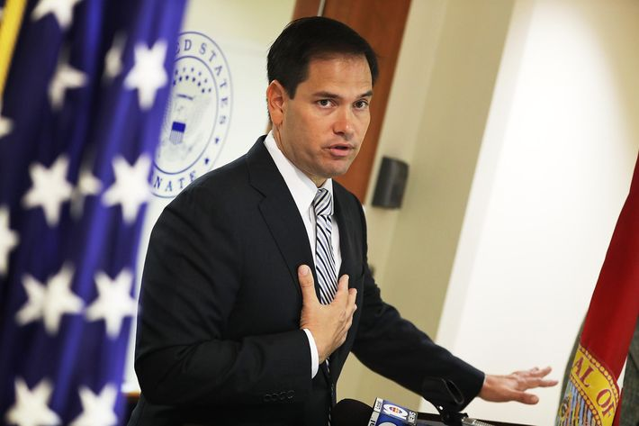 Sen. Marco Rubio (R-FL)  Holds News Conference To Urge Congress To Pass Zika Virus Funding