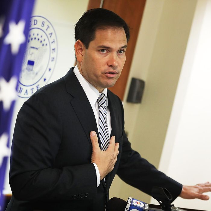 Sen. Marco Rubio (R-FL) Holds News Conference To Urge Congress To Pass Zika Virus Funding