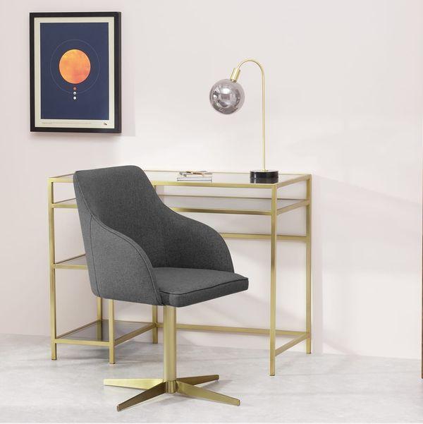 Keira Office Chair, Marl Grey/Brass