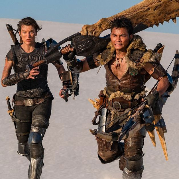 Milla Jovovich and Tony Jaa in Monster Hunter.