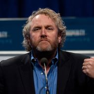 "Andrew Breitbart, editor and founder of BigGovernment.com political website, speaks at a ""Cut Spending Now"" rally at the conservative Americans for Prosperity (AFP) ""Defending the American Dream Summit"" in Washington on November 5, 2011.   AFP PHOTO/Nicholas KAMM (Photo credit should read NICHOLAS KAMM/AFP/Getty Images)"