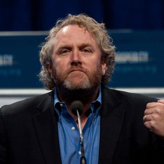 Andrew Breitbart, editor and founder of BigGovernment.com political website, speaks at a