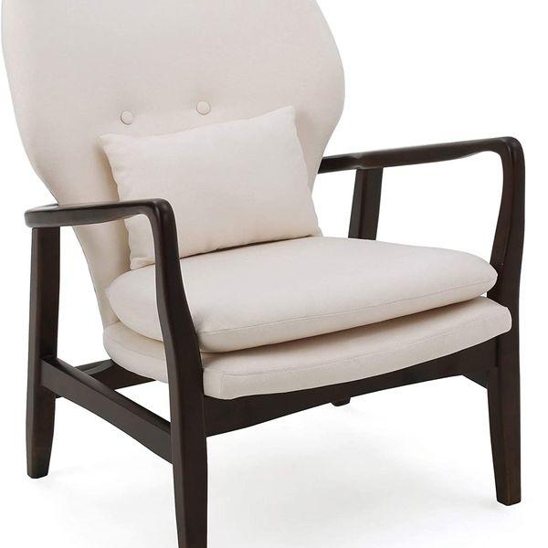 GDF Studio Cytheria Dark Espresso Wood Chair