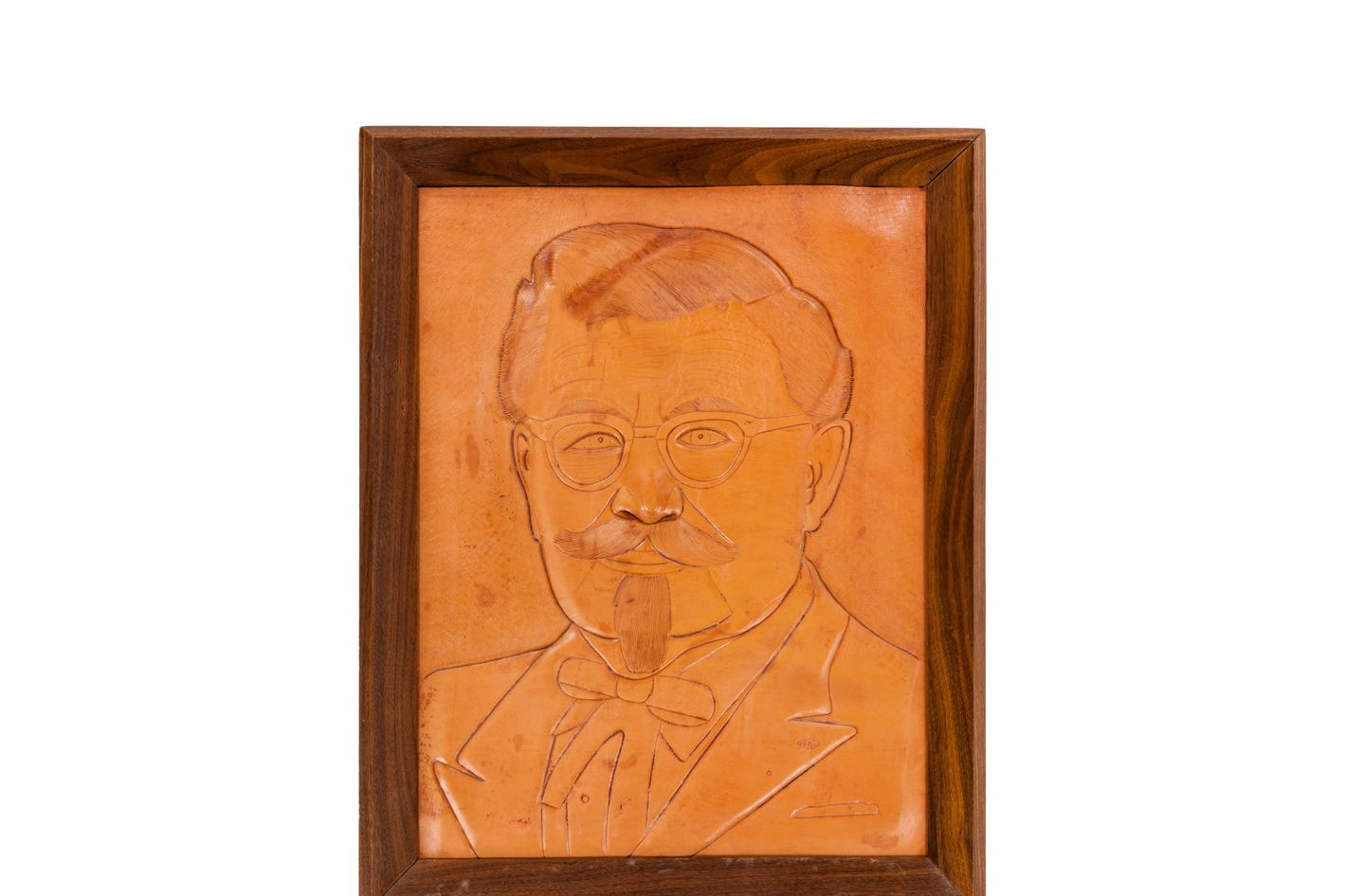 Now's your chance to get a leather portrait of Sanders!