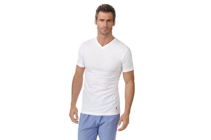 "78d86410 ""My favorite white T-shirt is a V-neck; Polo is my preferred brand, and  slim cut."